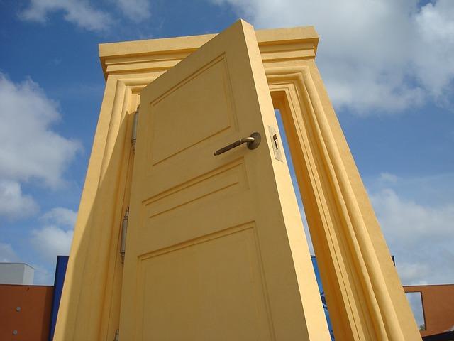 dveře v bráznu