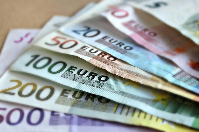 všechny eurové bankovky